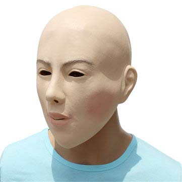 Face Latex Mask Fancy Dress Halloween Costume Party Living Doll Crossdresser - Motorcycle Motorcycle Face Mask for $<!--$22.74-->