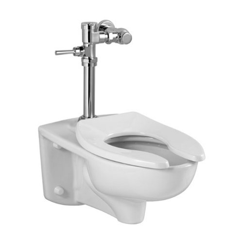 American Standard 2856.128.020 Afwall 1.28 GPF EverClean Toilet with Manual Flush Valve, White