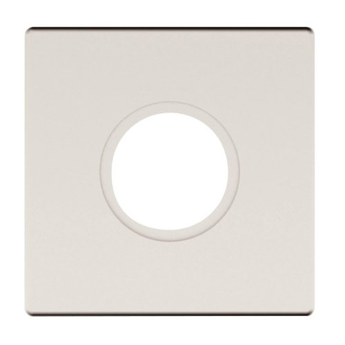 Baldwin R017056IPV Lifetime Satin Nickel Single Estate Rosette for Privacy ()