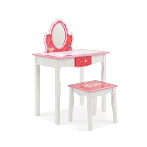 Amazon Com Barbie Kids Vanity And Stool Set Kitchen