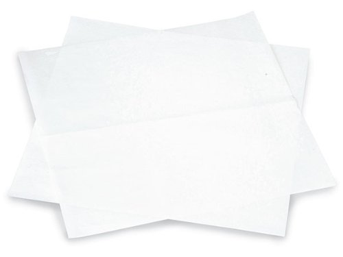 12x12'' White Food Grade 20# Grease Resistant White Tissue Sheet (2 Packs) - WRAPS-1260W by Miller Supply Inc