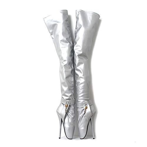 detailed look 7c9fa a6e35 Women s Ballet Knee Thigh High Heel Shoes Platform Sexy Fetish Nightclub  Shoes Thin Heels SM Flirting