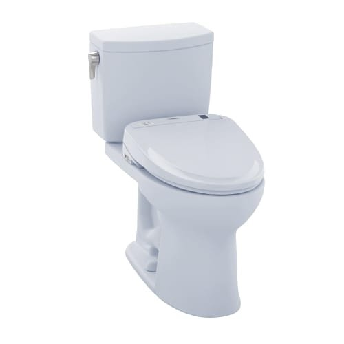 TOTO MW454584CUFG#01 WASHLET+ Drake II 1G Two-Piece Elongated 1.0 GPF Toilet and WASHLET S350e Bidet Seat, Cotton White