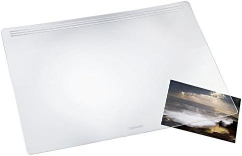 Läufer 32700 Matton transparent glasklar, Schreibtischunterlage 49x70 cm, durchsichtige Schreibunterlage für besonders hohen Schreibkomfort