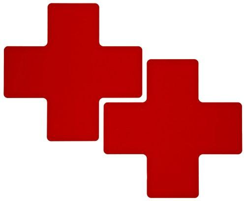 Tape Aisle Marking Red (Brady ToughStripe Nonabrasive Cross Shape Floor Marking Tape, 8