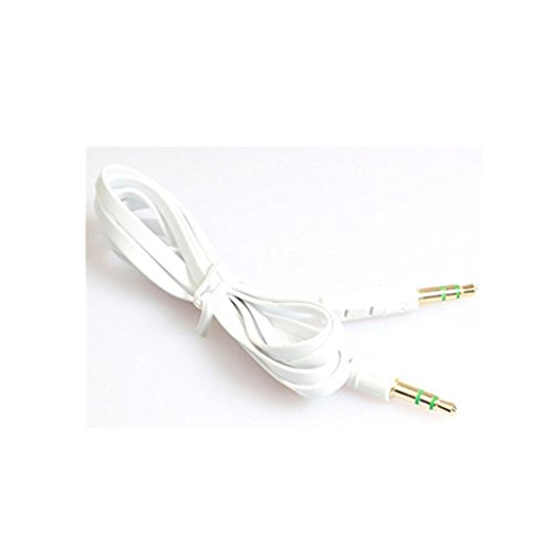 Price comparison product image 1m Audio Cable,Muxika 3.5mm Auxiliary Audio Cable Male To Male Flat Aux Cable (White)