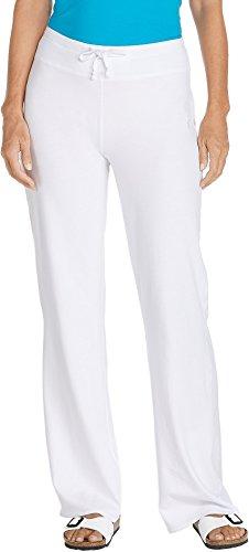Coolibar UPF 50+ Women's Beach Pants - Sun Protective (2X - White)