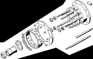 - Bikers Choice 4-Speed Clutch Hub - Stud Nuts 7051