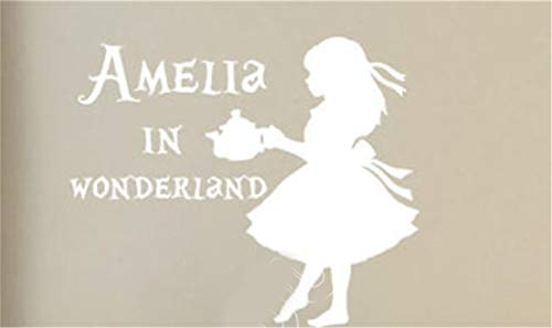 Lettering Words Wall Mural DIY Removable Sticker Decoration Alice in Wonderland Custom Name Nursery Sticker Decor Living Room Space -