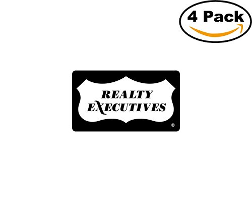 Realty Executives 4 Stickers 4X4 inches Car Bumper Window Sticker Decal