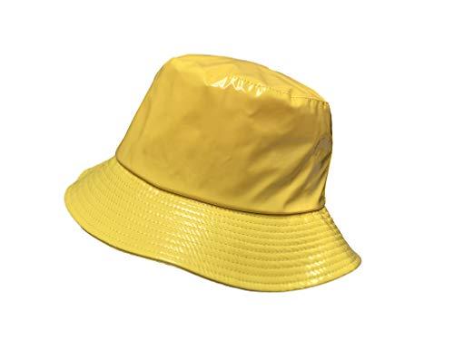 TOUTACOO, Waterproof Wax Style Bucket Rain Hat - Rain Packable Hat