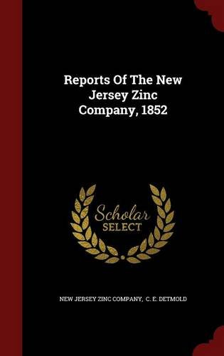 Reports Of The New Jersey Zinc Company, 1852 pdf