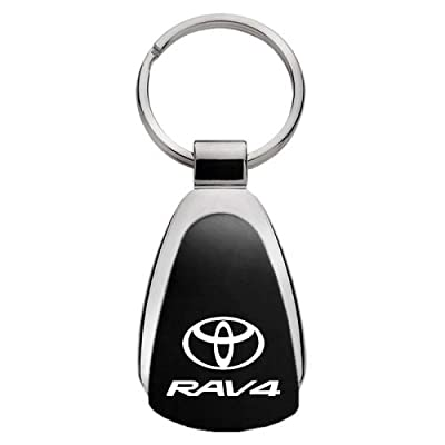 Toyota RAV4 Black Tear Drop Key Chain: Automotive