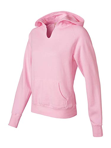 Comfort Colors Womens 10 Oz. Garment-Dyed Front-Slit Pullover Hood (C1595)- Blossom,Large