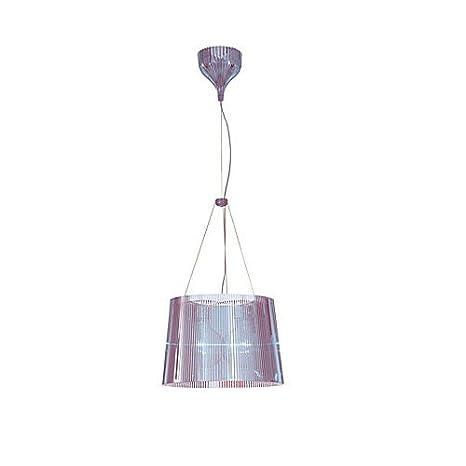 Kartell 9080P2 Ge - Lámpara de techo transparente, color azul cielo