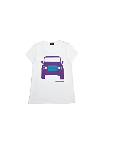 Price comparison product image Land Rover Official Merchandise Girls S/S Defender Print, White 11-12