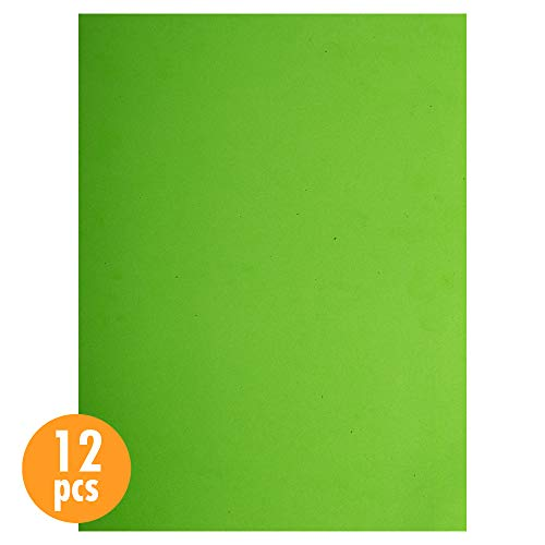 CTG, EVA Foam Sheets, 9 x 12 inches, Lime Green, 12 Pieces
