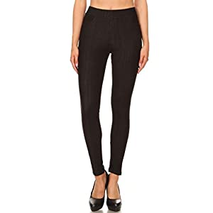 Jvini Women's High Waisted Super Soft Pull-On Skinny Pants
