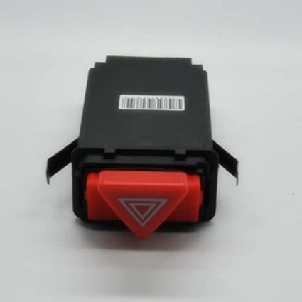 Hazard Warning Light Flasher Switch Emergency Fit for Audi A6 A6 Quattro LOOYUAN