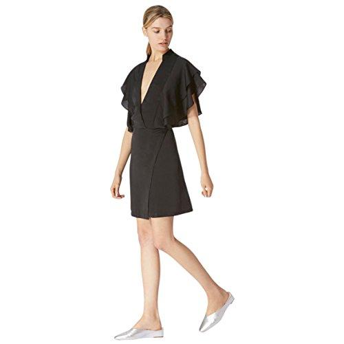 Avec Les Filles by Joyce Azria Ruffled Sleeve Mini Dress (Black) Size (Flutter Sleeve Mini Dress)