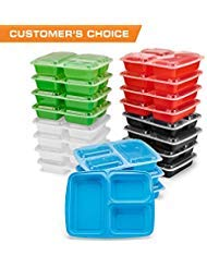 Simply Life New 3 Compartment Meal Prep Containers (20 Pack)