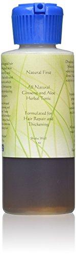 Natural First Ginseng and Aloe Vera Hair Growth Thickening and Repair Serum, 2 oz