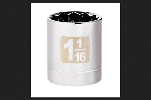 CM SCKT1/2 DR 1-1/16 12P - Sockets 12p