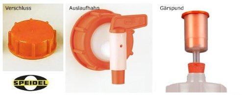 Barrel for fermentation SPEIDEL - Fermenter 120 L round + 1 airlock + 1 tap + 1 cap (22150+137+139+140) by Speidel