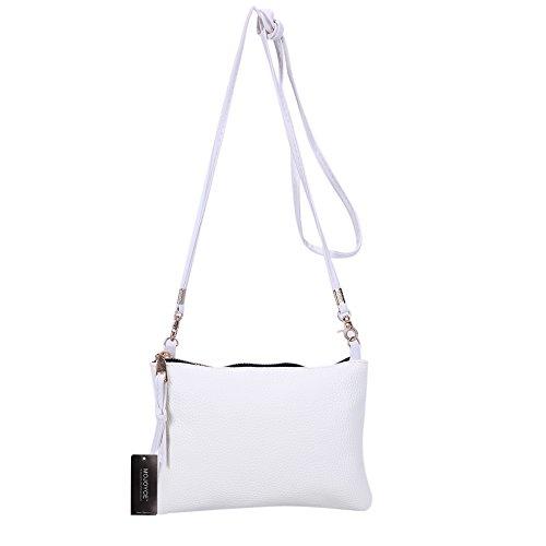 PU White Bag Litchee Patern Crossbody Shoulder New Small Women Widewing Bags Bag Leather 1qg5n7