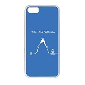 Slim And Stylish Funny Quotes When I Was Your Age Pattern iPhone 5 5S TPU(Laser Technology) Case Cover for White And Black