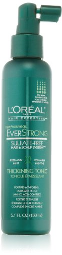 Hair Volume Tonic (L'Oreal Paris EverStrong Hair Thickening Tonic, 5.1 Fluid Ounce)