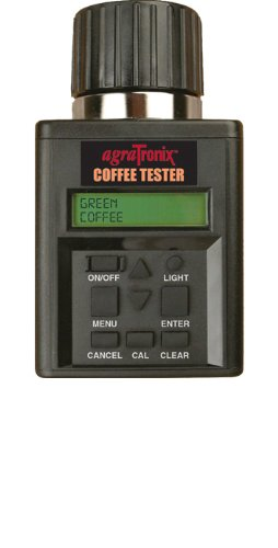 Agratronix Coffee Moisture Tester for Green and Parchment Coffee with Digital Meter Readout and 4 Pack of 9v Batteries by AgraTronix
