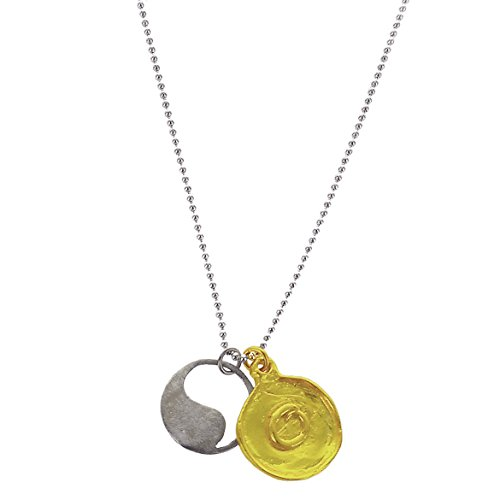 b.u. Jewelry b.u. Gratitude of Lacking Nothing Sterling Silver & 22k Gold Vermeil Necklace 24