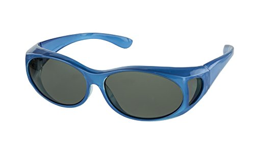 LensCovers Sunglasses Wear Over Prescription Glasses Small Blue