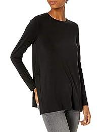 Amazon Brand - Daily Ritual Women's Long-Sleeve Split-Hem Tunic