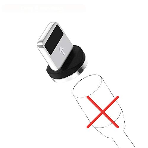 (L-Line Magnetic Charging Cable 90 Degree LED Cable for iPhone X 8 7 6 Plus & Micro USB Cable & USB Type-C USB C Cable,8-Pin Plug No Wire,1m)
