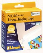 Acid Free Fabric (Lineco Gummed Hinging Tape for Artwork Framing, Acid-Free Linen Fabric, 1.25 inch X 35 Feet, Black (L533-1016))