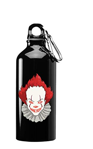 Hat Shark We All Float Down Here Horror Movie Clown 3D Color Printed 17 oz Stainless Steel Water Bottle Black -