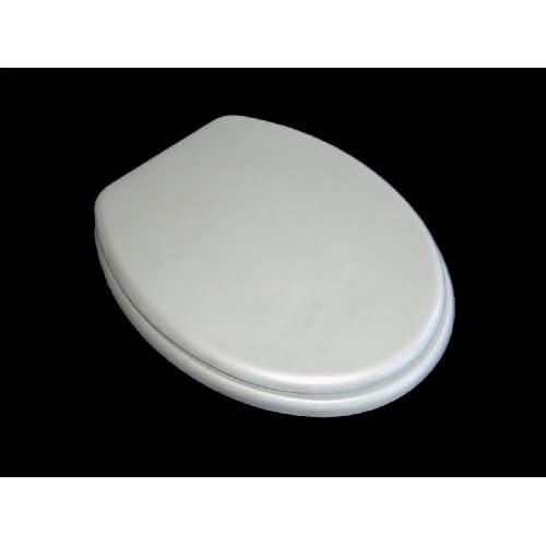 durable service Adob, WC Deckel Ascoli Holzkern-WC-Sitz silber, 85034