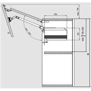 HETAL Ferrure de porte pliante relevable f-20
