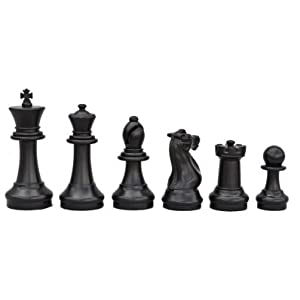 """MegaChess Giant Plastic Chess Set with a 16"""" King and a Nylon Chess Board"""