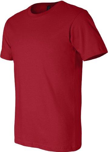 Bella + Canvas Unisex Kurze Ärmel hergestellt in den USA Crewneck T-Shirt–Athletic Heather XXXL rot - CANVAS RED