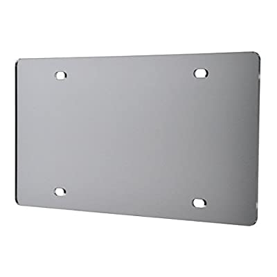 Marketing Holders Laser Cut Acrylic Blank License Plate Silver Mirror Qty 1: Automotive