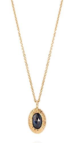 Laura Lee Jewellery femme  9carats (375/1000)  Or jaune|#Gold Ovale   Bleu Saphir FINENECKLACEBRACELETANKLET