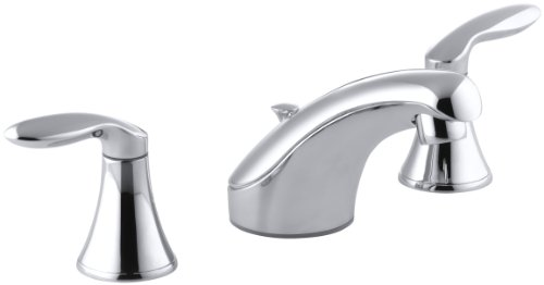 KOHLER K-15261-4-CP Coralais Widespread Lavatory Faucet, Polished Chrome Coralais Widespread Bathroom Faucet