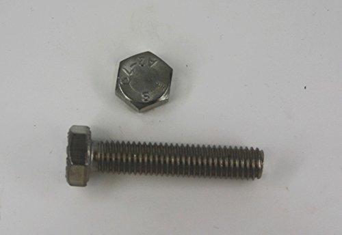 10 Stk Sechskantschraube DIN 933 M8 x 30 - Edelstahl V2A Schrauben.Expert