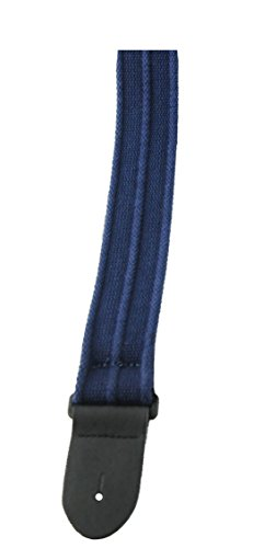 Perris Leathers BCT-6532 2-Inch Deluxe Cotton Guitar Strap with Leather - Leather Perris Cotton
