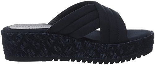 Midnight Pattern TH Damen Hilfiger 403 Blau Tommy Flatform Espadrilles q1w0PPt