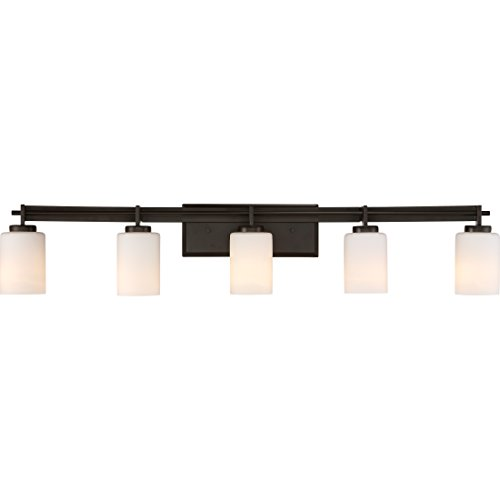 Quoizel TY8605WT Taylor Bath Vanity Wall Lighting, Lights 5-Light, 500 Watts, Western Bronze (8