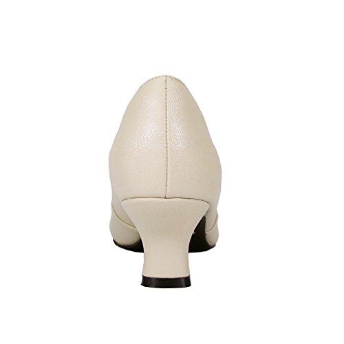 Adelsrang Fic Belle Dame Brede Bredde Elegant Bue Accent Kjole Pumpe (størrelse & Måling Guider Til Rådighed) Beige VAz1ICW